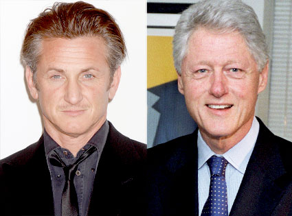 Sean Penn, Bill Clinton