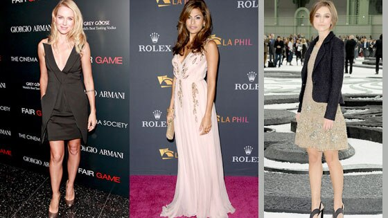 Naomi Watts, Eva Mendes, Keira Knightley