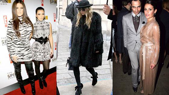 Kim Kardashian, Khloe Kardashian Odom, Mary Kate Olsen, Zac Posen, Lea Michele