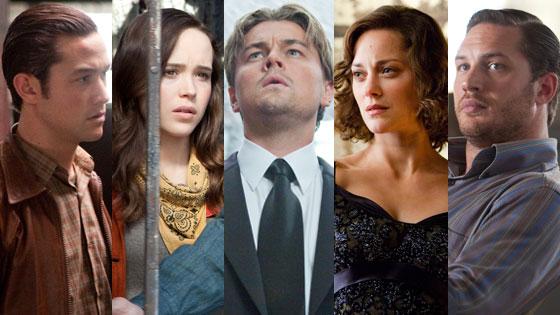 Inception, Leonardo DiCaprio, Marion Cotillard, Tom Hardy, Ellen Page, Joseph Gordon-Levitt