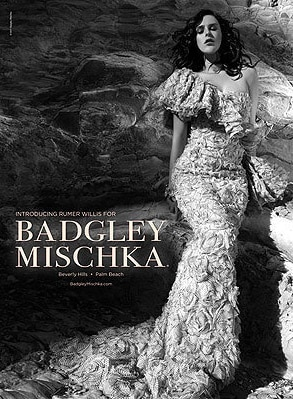 Rumer Willis, Badgley Mischka Ad