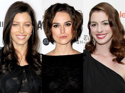 Jessica Biel, Keira Knightley, Anne Hathaway