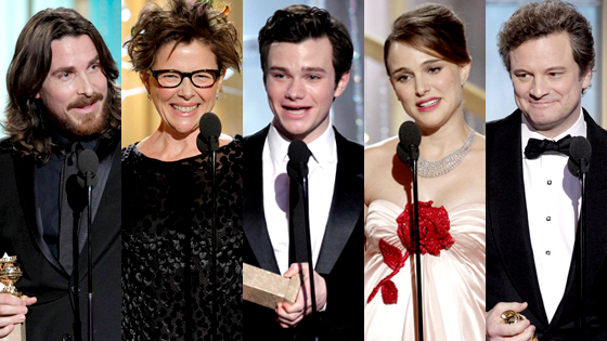 Christian Bale, Annette Bening, Chris Colfer, Natalie Portman, Colin Firth