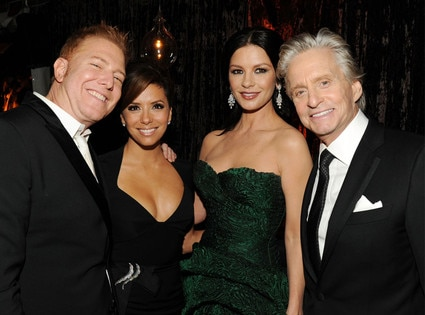 Ryan Kavanaugh, Eva Longoria, Catherine Zeta-Jones,  Michael Douglas