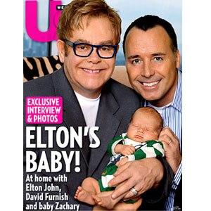 Sir Elton John, David Furnish, Zachary Jackson Levon Furnish-John, US Cover