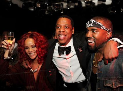 Rihanna, Jay-Z, Kanye West