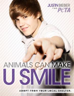 Justin Bieber, Peta
