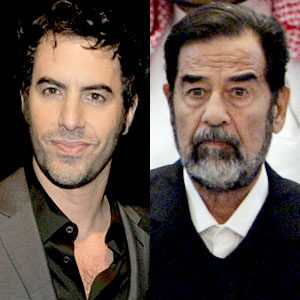 Sacha Baron Cohen, Saddam Hussein