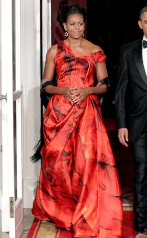 Fiery Hot Flotus From Michelle Obama 39 S Best Looks E News