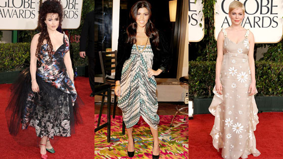 Helena Boham Carter, Kourtney Kardashian, Michelle Williams