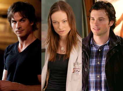 Olivia Wilde, House, Ian Somerhalder, The Vampire Diaries, Tom Welling, Smallville