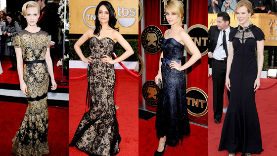 January Jones, Archie Panjabi, Dianna Agron, Nicole Kidman