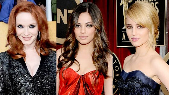 Christina Hendricks, Mila Kunis, Dianna Agron