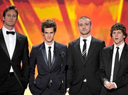 Armie Hammer, Andrew Garfield, Justin Timberlake, Jesse Eisenberg