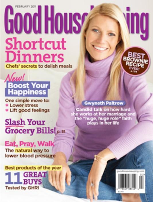 Gwyneth Paltrow, Good Housekeeping Cover