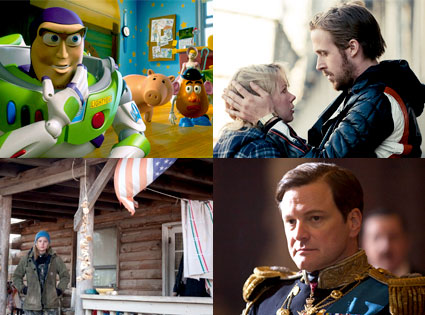 Toy Story 3, Blue Valentine, Winters Bone, The King's Speech
