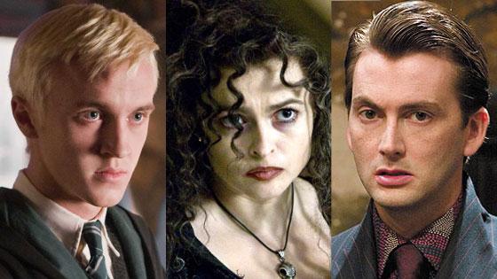 Helena Bonham Carter, David Tennant, Tom Felton