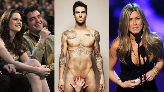 Kristen Stewart, Robert Pattinson, Adam Levine, Jennifer Aniston