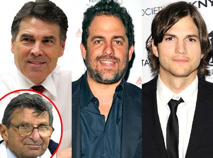 Ashton Kutcher, Rick Perry, Brett Ratner, Joe Paterno
