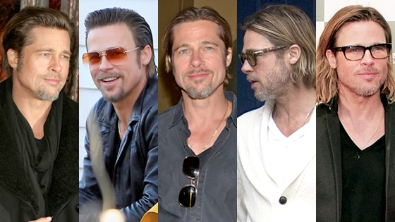 Brad Pitt, hair
