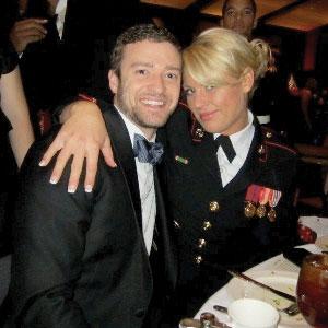 Justin Timberlake,  Kelsey De Santis, Marine Corps Ball