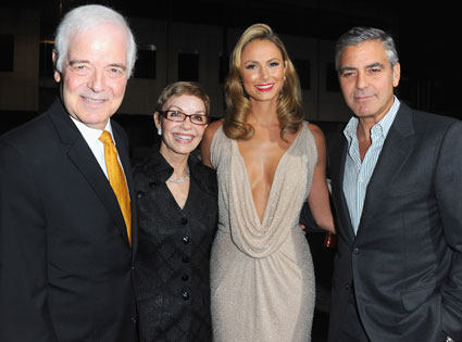 Nick Clooney, Nina Bruce, Stacy Keibler, George Clooney