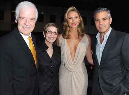 Nick Clooney, Nina Bruce, Stacy Keibler, George Clooney
