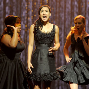 Glee, Amber Riley, Naya Rivera, Heather Morris