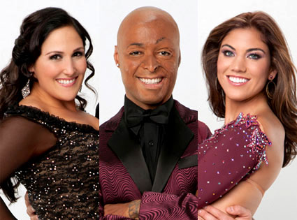 DWTS, Ricki Lake, J.R. Martinez, Hope Solo