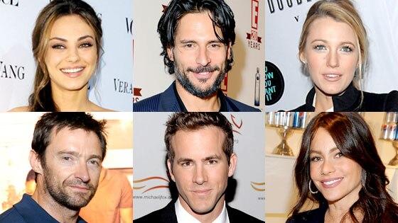 Mila Kunis, Joe Manganiello, Blake Lively, Hugh Jackman, Ryan Reynolds, Sofia Vergara