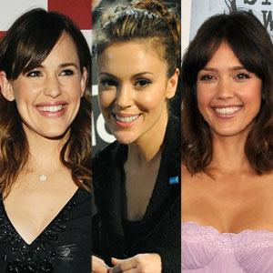 Jessica Alba, Jennifer Garner, Alyssa Milano