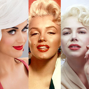 Katy Perry, Marilyn Monroe, Michelle Williams