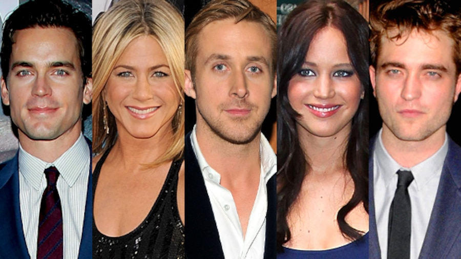 Matt Bomer, Jennifer Aniston, Ryan Gosling, Jennifer Lawrence, Robert Pattinson