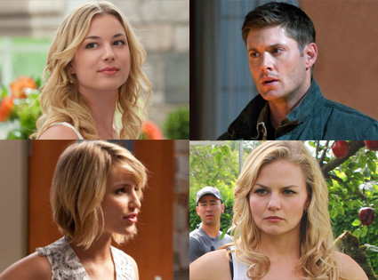 Jensen Ackles,Supernatural, Dianna Agron, Glee, Jennifer Morrison, Once Upon a Time, Emily VanCamp, Revenge