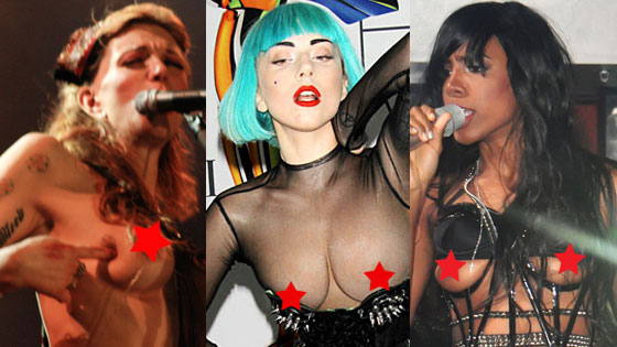 Lada Gaga, Courtney Love, Kelly Rowland