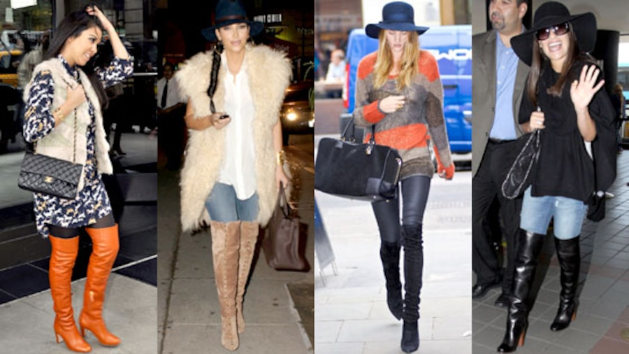 Kourtney Kardashian, Kim Kardashian, Rosie Huntington-Whiteley, Lea Michele