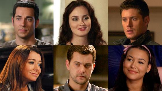 TV Crushes, Levi, Chuck, Meester, Gossip Girl, Ackles, Supernatural, Hannigan, How I Met, Jackson, Fringe, Rivera, Glee