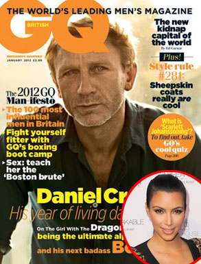 Gq, Daniel Craig, Kim Kardashian