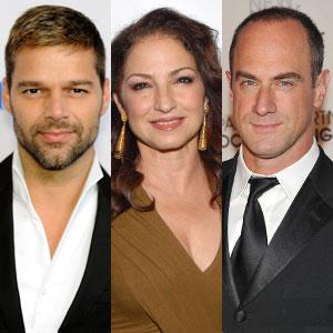 Christopher Meloni, Ricky Martin, Gloria Estefan