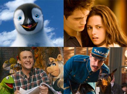 Twilight: Breaking Dawn Part 1, The Muppets, Hugo, Happy Feet Two