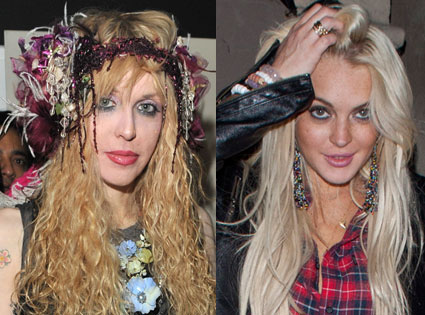 Courtney Love, Lindsay Lohan
