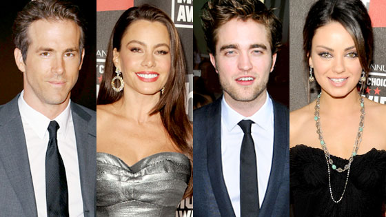 Ryan Reynolds, Sofia Vergara, Robert Pattinson, Mila Kunis