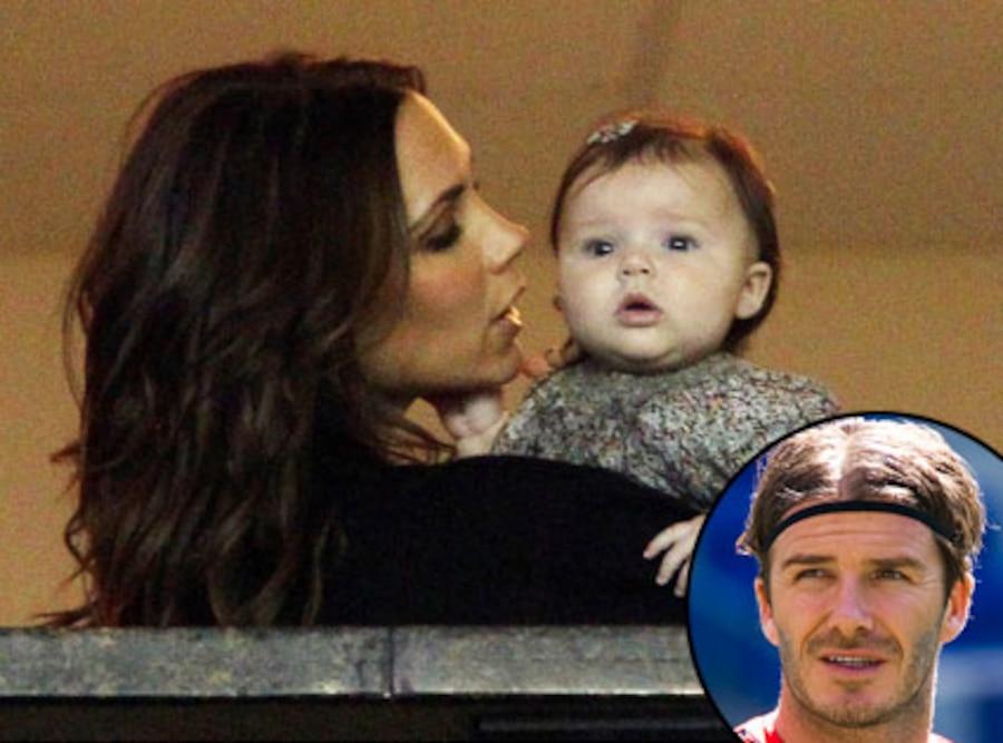 Victoria Beckham, Harper Beckham, David Beckham
