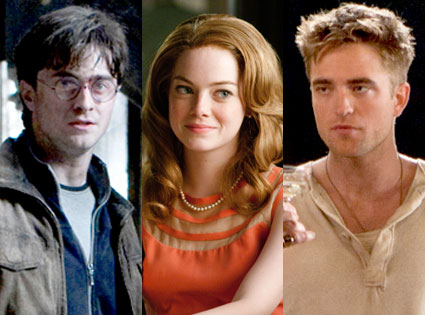 Daniel Radcliffe, Harry Potter, Emma Stone, The Help, Robert Pattinson, Water for Elephants