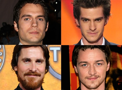 Henry Cavill, Andrew Garfield, Christian Bale, James McAvoy