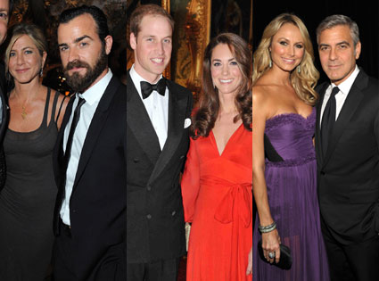 Jennifer Aniston, Justin Theroux, Kate Middleton, Prince William, George Clooney, Stacey Kiebler
