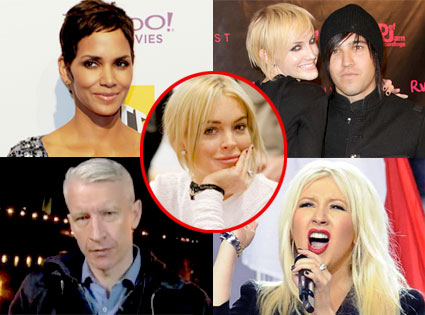 Halle Berry, Ashlee Simpson, Pete Wentz, Anderson Cooper, Christina Aguilera, Lindsay Lohan