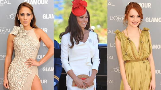 Jennifer Lopez, Kate Middleton, Duchess Catherine, Emma Stone