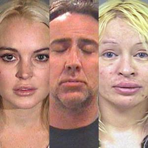 Lindsay Lohan, Nicolas Cage, D'Arcy Wretzky