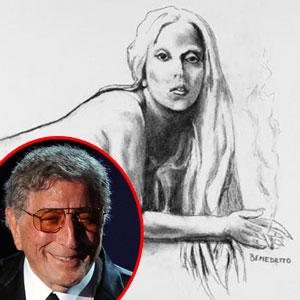 Lady Gaga Ebay Drawing, Tony Bennett